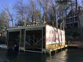 new boathouse construction