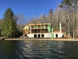 New construction on lake Burton by Steve Jones Construction